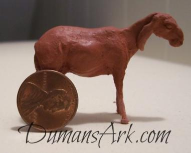 Miniature Art Nubian Goat Sculpture