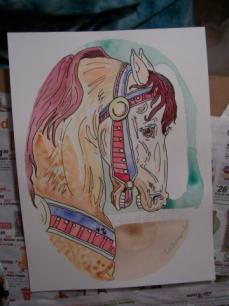 Carousel Horse Work in Progress 4