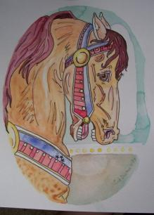 Carousel Horse Work in Progress 5